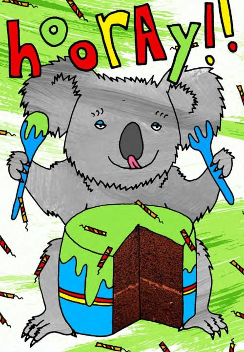 HALLABALOO - KOALA WITH CAKE